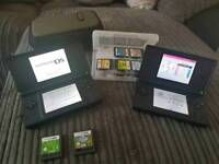 2 x Nintendo DS plus 11 games and games case