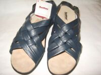 New Hotter Softy Lea Ladies Sandals (with original box) Size 7