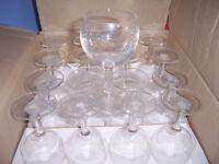 40 GOBLET STYLE WINE GLASSES