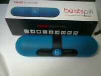 BLUE BEATS PILL ( blue wireless speaker) LIKE NEW