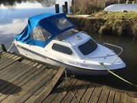 14FT RYDS 435FC RIVER SEA DAY FISHING BOAT WITH OUTBOARD, TRAILER & PRAM CANOPY