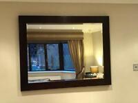 Mirror 119cm x 93cm in mahogany finish