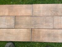 Approx: 7sq mtrs Wood effect Italian Porcelain Tiles