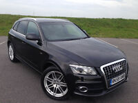 STUNNING AUDI Q5 S LINE TDI QUATTRO AUTOMATIC VERY LOW MILEAGE FULL BLACK LEATHER GREAT CAR!