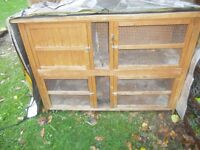 LARGE WOODEN RABBIT HUTCH AND RUN