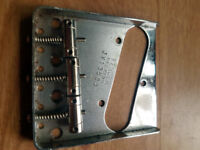 Fender JV Telecaster bridge Pat. Pend complete with saddles 1982 - 1984