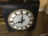 Vintage Two Faced Retail Clock