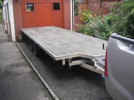 Trailer Blueline flatbed 20x6 feet 3.5ton 4 wheel braked £1750.