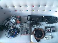 BUNDLE: Phonic mixer / memory boy / behringer multi fx / cables