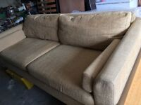 Low backed cloth sofa