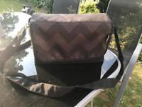 My Babiie black chevron changing bag/mat