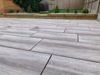 New Oak Wood Effect Porcelain Patio Paving