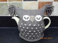 Handmade Knitted Brown Owl Tea Cosy Gift/Birthday present