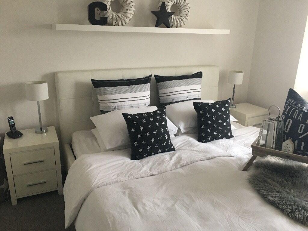 next bedroom furniture 2 x bedside tables dresser chest of. Black Bedroom Furniture Sets. Home Design Ideas