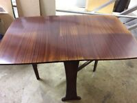 Folding Butterfly Dining Table Wood - Possible Shabby Chic / Restoration Project