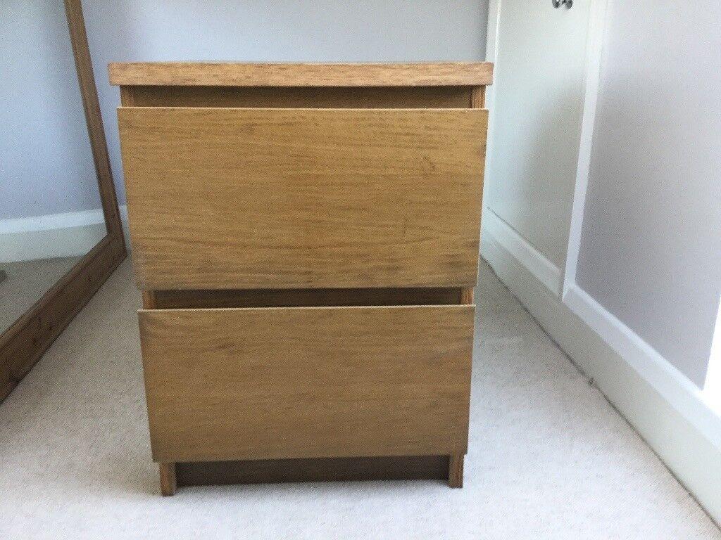 Free Bedside Table Ikea Malm Oak Veneer