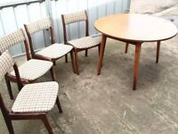 Dining Table and Four Chairs 1960's Free Delivery in Taunton
