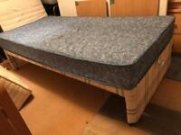 Quality Mattress Divan Single Bed Base Storage child Kids Teenager Student Landlord Rental