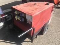 7 kva silent diesel generator on wheels 240v & 110v