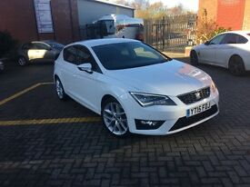 SEAT Leon 2.0 TDI FR (TECHNOLOGY PACK) 5dr (start/stop) (white) 2015