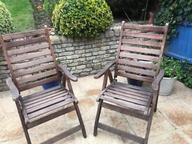Out door wooden dining chairs