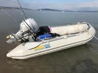 Excel sib inflatable boat. 15 hp engine.