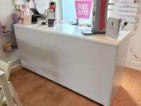 White Shop Counter