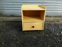 Galleried bedside cabinet