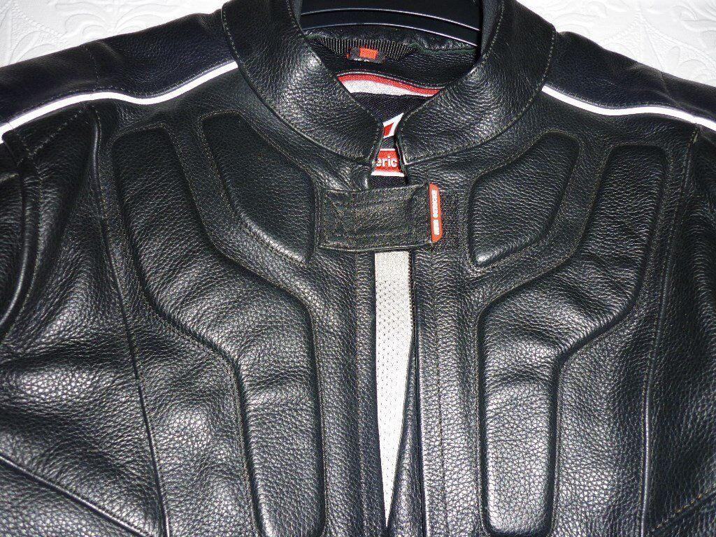 Xmas special !Hein Gericke Black Motorcycle Jacket Chest