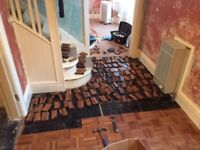 Approximatley 7m^2 of reclaimed hard wood parquet flooring
