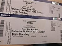 2x standing Elbow Tickets - Saturday 4th March @ Hammersmith (£41 pp face value)
