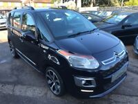 2013/62 CITROEN C3 PICASSO 1.6 HDI 16V EXCLUSIVE 5DR BLACK,GREAT SPEC,AND ECONOMY,LOW MILEAGE