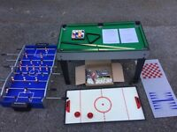 Football, snooker, pool, air hockey table plus other games