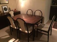 Danish Rosewood Dining Table & Chairs