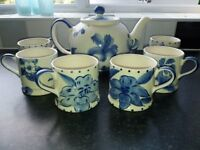 Whittards teapot, tea cups and espresso cups