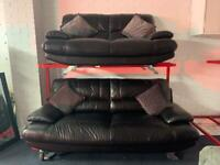 Black Harvey's leather sofas 3&2 delivery 🚚 sofa suite couch furniture