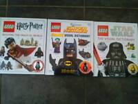Excellent condition Three Lego books each have a figure