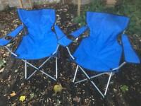 Camping garden festival chairs x2