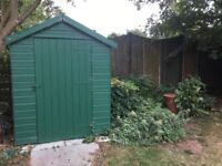 Wooden shed in need of repair