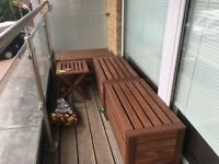 Outdoor benches with table / stool (IKEA APPLARO)