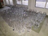 Job lot of 83 pieces Bohemia Lead Crystal 24% glass tumbler jug bowl