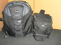 1 Lowepro Trekker AWII  Bag with removable dividers , Lowepro camera & Lens Bag , Vanguard tripod