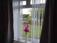 CURTAIN TRACKS AND SLATS (VERTICAL BLINDS) VARIOUS SIZES, COMPLETE WITH ALL FITTINGS..