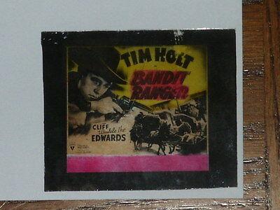 Vintage 1942 Tim Holt Bandit Ranger Glass Slide w/ Cliff Edwards