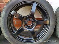 SPARCO alloy wheels, matt black, 17'