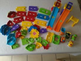 toot toot vehicles x5 with track and ramp for sale