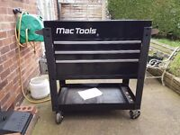Mac Tools mb197 Trolley Utility Cart 3 drawer Excellent condition NOTTINGHAMSHIRE.