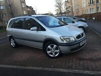 BARGAIN---VAUXHAL ZAFIRA 1.6 PETROL -- 7 SEATER-- LOW MIL./ LONG MOT GOOD CONDITION FOR SALE