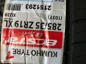 Kumho tyre 285/35ZR19 XL 103Y