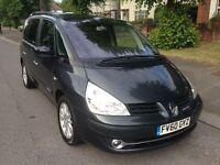Renault Espace 2.0 dCi Dynamique 7 Seat - Warranty Inc, PCO, New Flywheel & Clutch, Sat Nav, Leather